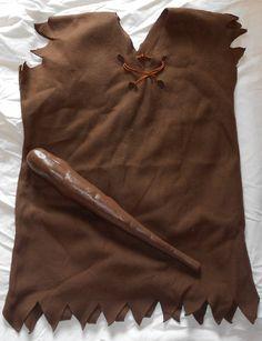prehistoric costume, really simple con una bolsa de plástico marrón de basura para disfraces http://www.multipapel.com/subfamilia-bolsas-basura-colores-para-disfraces.htm
