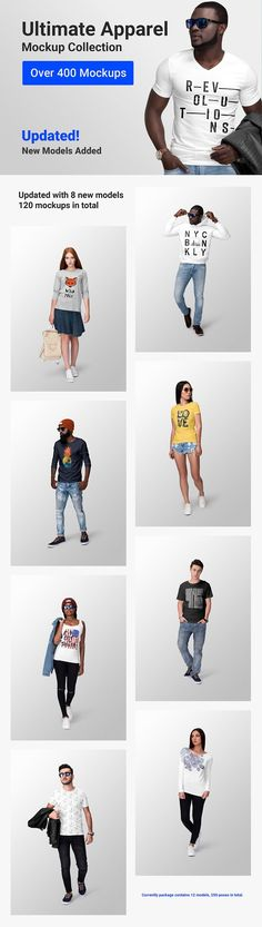 Ultimate Apparel Mockup Collection by Mockup Cloud on huge collection of highly customizable and easy-to-use clothing mockups. Design Typography, Design Logo, Graphic Design, Creative Logo, Creative Business, Photoshop, Free Design, Your Design, Girl Boss