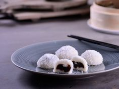 Receta | Pastelitos de arroz glutinoso con judías rojas - canalcocina.es                                                                                                                                                     Más