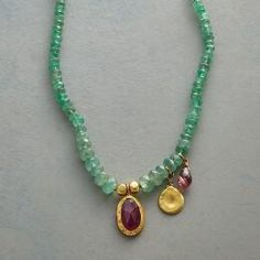 This handmade emerald necklace designed by Nava Zahavi is a one-of-a-kind stunner.