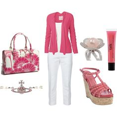 PINK! Although I would personally choose jeans over white pants...