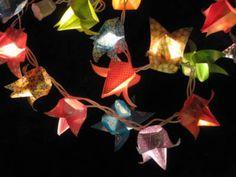 string light origami