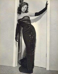 """Susan Hayward en """"Ambición de mujer"""", 1951"""