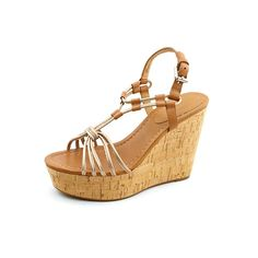 Coach Women's Georgiana Metallic Leather Wedge Sandals, Style A0842 ** Discover this special product, click the image : Strappy sandals
