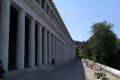 Outside the Stoa of Attalos, Athenian Agora, Athens, Greece - 29 Jul 2012