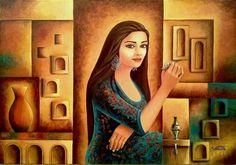 By Um Kulthum Alzubaidi - Iraqi Artist