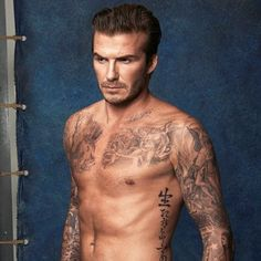 Pin for Later: David Beckham Is Sexy and Shirtless in His New H&M Campaign