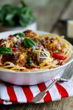 Cheesy meatballs baked in tomato sauce from Simple & Delicious. #food #yummy +++Visit http://www.thatdiary.com/ for guide + advice on #lifestyle