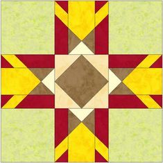 Chicago Star 15 Inch Block Paper Template Quilting Block Pattern PDF by…