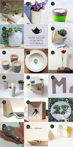 March Craft: Be Concrete! Troverete 17 progetti facili da realizzare con materiali che potete trovare in casa, ma vedrete anche progetti più complicati ma creativi.