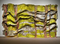 """""""Lines that Link Humanity"""" by Ghanaian artist El Anatsui. 60 of the artist's…"""