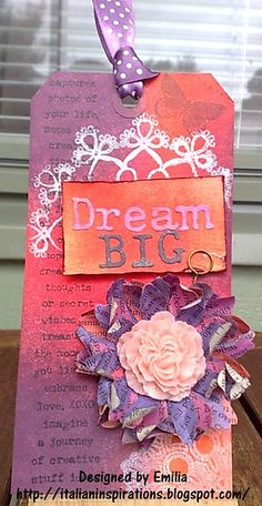 Dream big tag