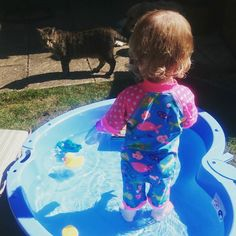 Hotter than Antigua today which means paddling pool time!