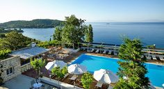 When it comes to tourism Greece is the most famous country in the world with many unique hotels. Atrium Hotel Skiathos, Greece Hotels, Unique Hotels, Beach Tops, Corfu, Beach Hotels, Countries Of The World, Mykonos, Hotel Offers
