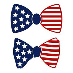 American Flag Bow Tie Cuttable Design - - Available for FREE today only 6/15/17
