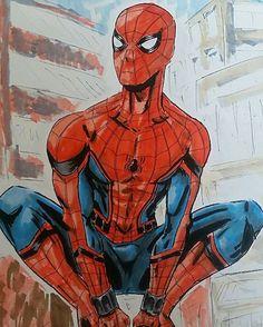 Spidey hoco art By @spiderwebbillustrations