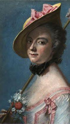 madama pompadour...official mistress to Louis XV) ~ by Maurice Quentin de La Tour (1704-1788), French Rococo portraitist. — pinterest.com