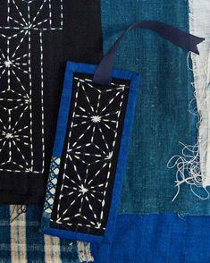 Hand stitched Bag  Small bag  Sashiko style stitching  Darker blue Denim  Simple and Unique  handy