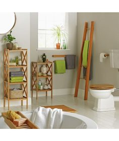 Buy Collection Bamboo Ladder Shelf at Argos.co.uk - Your Online Shop for Bathroom shelves and storage units, Bathroom shelves and units.