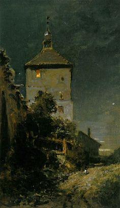 Der Blasturm in Schwandorf - Carl Spitzweg