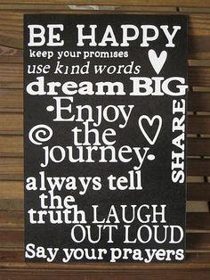 happy subway art#cricut #word collage #diy