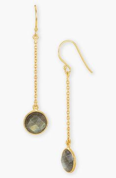 Argento Vivo Semiprecious Stone Linear Drop Earrings available at #Nordstrom