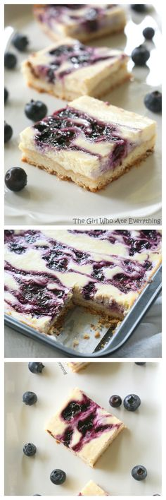 Blueberry Lemon Cheesecake Bars