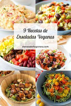 Hay que tomar ensaladas durante todo el año, pero con el calor apetecen aún más. Estas 9 recetas de ensaladas veganas están riquísimas.