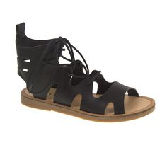 Chinese Laundry Bevelled Flat Sandal / Black