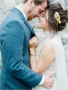 As Ever Photography / Ireland Wedding / Maria Luisa Rabell Dress / Veil / Destination Wedding / Headpiece by Jenn Mignonne