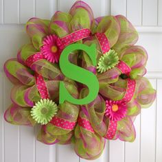 Spring Poly Mesh Wreath