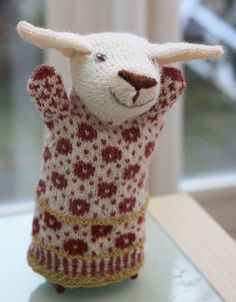 sheep puppet in fair isle.. how cute!