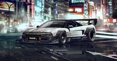 ArtStation - Honda NSX Inbound racer, Yasid Oozeear