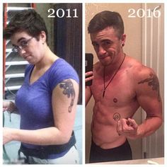 before and after picture of transition
