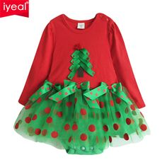19fdb8cc5 IYEAL Christmas Baby Girl Rompers Princess Kids Newborn Clothes Long  Sleeved Spring Autumn Children Infant Clothing Set-in Rompers from Mother &  Kids on ...