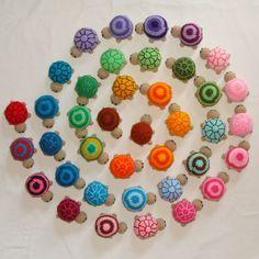 Tortuguitas tejidas al crochet