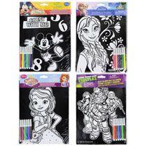"""Bulk Cartoon Characters Velvety Poster Art Kits, 8x10"""" at DollarTree.com"""