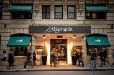 The Algonquin Hotel, New York, NY  You won't find Dorothy Parker and Harold Ross trading bon mots there anymore, but it's worth just walking into the famous Manhattan hotel and checking out the place that was home to the famous Algonquin Round Table.