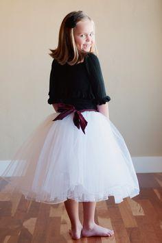 The Prima Tutu:  Tutu skirt flower girl or bridesmaid adult and child sizes TUTU Pageant, via Etsy.