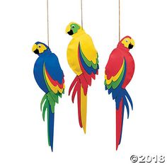 Whether throwing a Hawaiian beach bash for adults or kids beach party, step up your luau decorations with these colorful Jumbo Parrots. Hang several of these ...