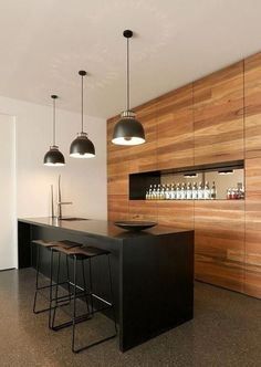 Kitchens A modern and simple home bar design. A modern and simple home bar design. Home Bar Decor, Home Decor Kitchen, Kitchen Interior, Home Kitchens, Kitchen Ideas, Bar Home, Apartment Interior, Home Interior, Interior Paint