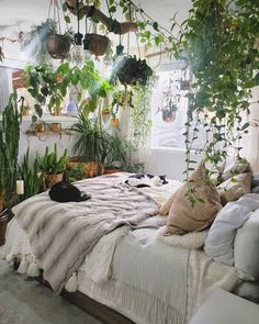 Image in Aesthetic collection by Sam // moreYoongi Room Ideas Bedroom, Dream Bedroom, Cozy Bedroom, House Plants Decor, Plant Decor, Aesthetic Room Decor, Interior Decorating, Interior Design, Diy Decorating