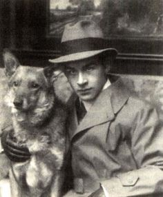 Erich Maria Remarque, as a teenager with his beloved dog.
