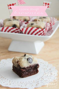 Cookie Dough Brownies // the baker upstairs http://www.thebakerupstairs.com