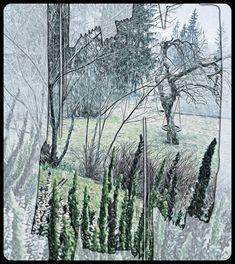#snowing again #lunta sataa #huhtikuu #cold #kylmä #takatalvi #photograph #valokuvaus #viileää #yard #garden #waiting for summer #kesää odotellessa #piha #puutarha #drawing #digital art