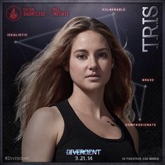 Tris Prior (NEW: Divergent Character Portraits Revealed) Divergent Poster, Divergent Film, Divergent Characters, Divergent Insurgent Allegiant, Movie Characters, Fictional Characters, Caleb Prior, Tris Prior, Dylan O Brian