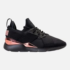 Right view of Women s Puma Muse Metallic Casual Shoes in Puma  Black Rose Gold b654d1c34