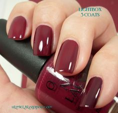 My color this week: Malaga Wine by OPI    Ok Lauren....LOVE it in this pic!