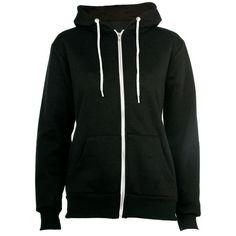 Black Zip Up Hoodie (£12) ❤ liked on Polyvore featuring tops, hoodies, jackets, sweaters, zip up hoodies, zip up hoodie, faux fur zip up hoodie, hooded pullover and sweatshirt hoodies