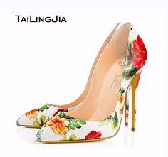 d5695b1efdf Women Genuine Leather High Heel Pumps 2017 Floral Shoes Ladies Extreme Heels  Real Leather Elegant Wedding